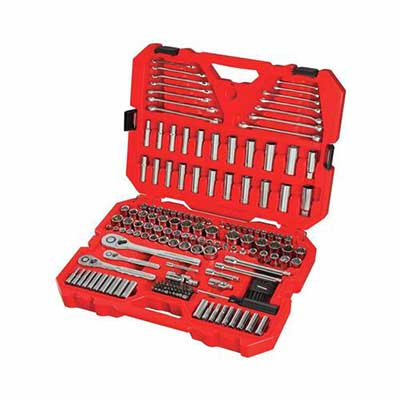 #1. CRAFTSMAN CMMT12034 189-Pcs Portable Mechanics SAE & Metric Home Tool Set