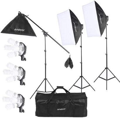 7. Andoer 2400W Lighting Kit for Portrait & Product Shooting