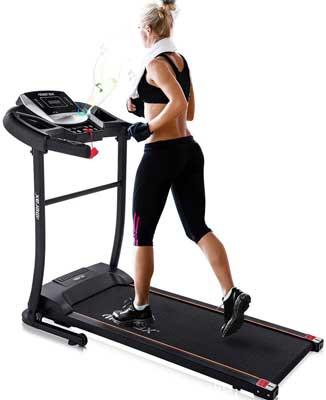 #10. Merax Fitness Motorized 12 Preset Programs Electric Folding Treadmill