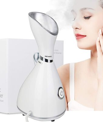 9. Lumcrissy Powerful Warm Mist Humidifier Face Steamer for Home for Acne Control