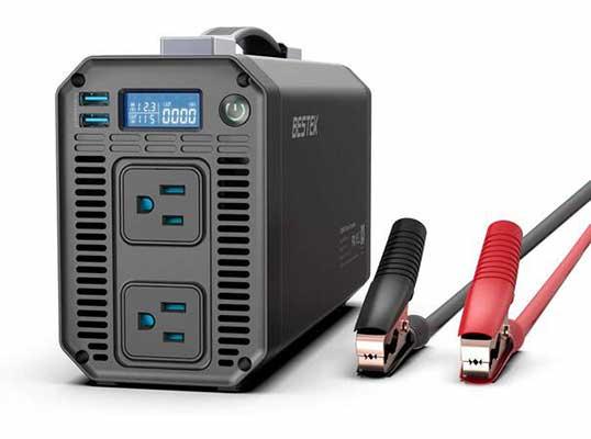 4. BESKEK 110V AC Converter 1200W DC 12V - 110V Power Inverter USB Car Charger