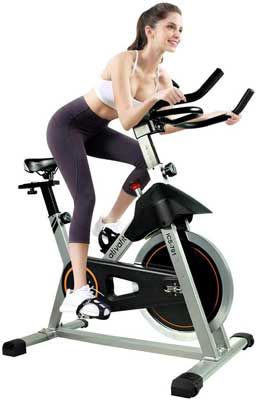 #3. ATIVAFIT Indoor 40 lbs. Stationary Cycling Bike with IPad Mount suitable for Cardio Gym