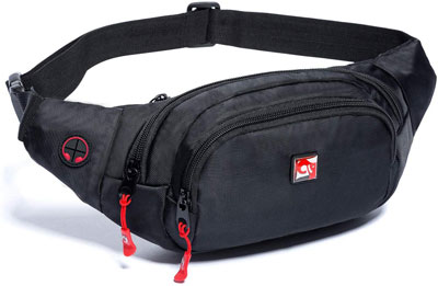 #7. HAWXUNG Large Capacity Water Resistant Adjustable Strap Waist Pack Bag for Men & Women