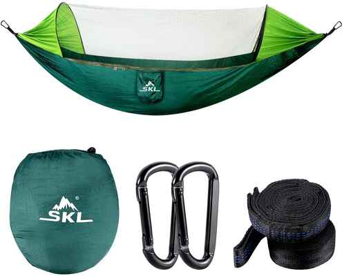 4. SKL Camping Hammock with a Mosquito Net