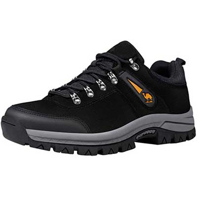 #6. CAMEL Cowhide Non-Slip Low Climbing Work Waterproof Trekking Men's Shoes