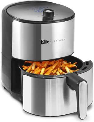 #6. Elite Platinum EAF-680D XL 8 Menu Functions 1500W 4.5 Quart Digital Air Fryer