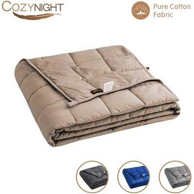 #5. Cozynight Weighted Blanket 41x60 inches Glass Beads 10Lbs for Kids