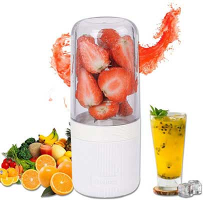9. Oceanflowery Personal Blender, USB Rechargeable for Summer Outgoing Travel