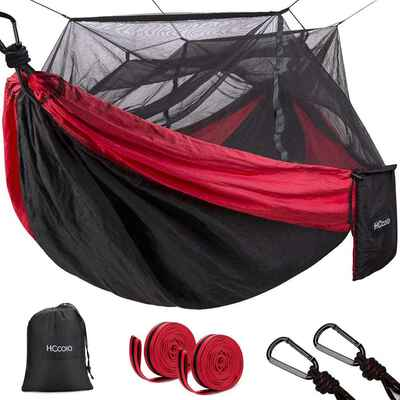 8. HCcolo Camping Hammock with Mosquito Net