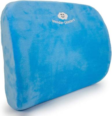 #6. Wonder Comfort Memory Foam Cushion Lumbar Support for Large Office Chair & Car Seat
