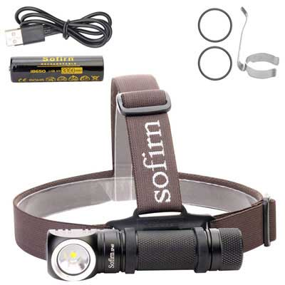 1. Sofirn Rechargeable Headlamp, 1200 Lumens Brightness, IPX7 Water Resistance