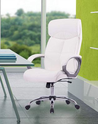 #8. Rainbow Sophia High Back Swivel Beige Ergonomic Executive Office Chair
