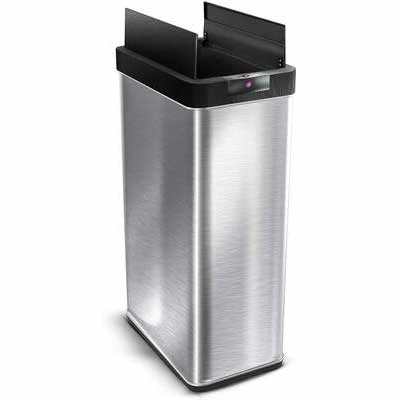#5. Home Zone Living 68L Bin Touchless Automatic Stainless Steel Sensor Trash Can (Silver)
