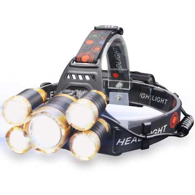 6. Soft Digits Headlamp with a Brightness of 6000 Lumen for Outdoor use
