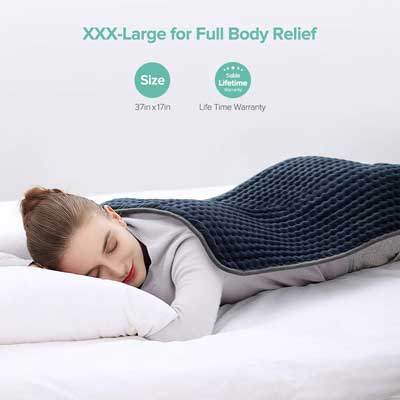 #5. Sable XXX-Large FDA Approved Electric Heating Pad with Auto-off for Fast Pain Relief (33''x 17'')
