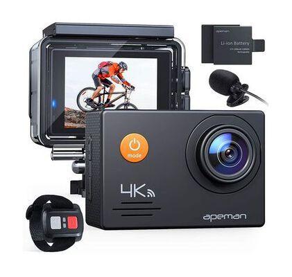 9. Apeman Outdoor 4K 20MP Underwater WIFI Action Camera with 2 Rechargeable Batteries