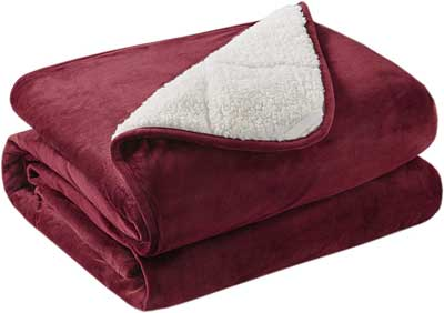 #4. Degrees of Comfort Durable, Soft Fuzzy, Weighted 50x60 Red Throw Blanket