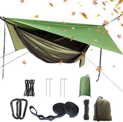 7. YCD Camping Hammock Set with a Mosquito Net