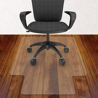 10. Azadx Hard Surface Transparent 30x48 Inch Hard Floor Protector Office Chair Mat w/Lip