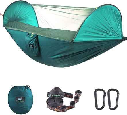 6. CAMDEA Camping Hammock w/ Mosquito Net