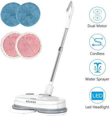 #5. vmai Cordless Electric Spin Mop with Built-in 300ml Water Tank
