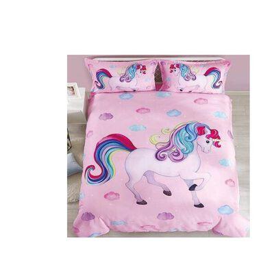 10. ENJOHOS White Unicorn Bedding Set for Girl, 3 Pieces