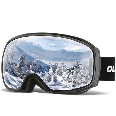 #10. OlarHike Anti-Fog Over Glasses Windproof UV Protection Dual Lens Ski Goggles for Men & Women