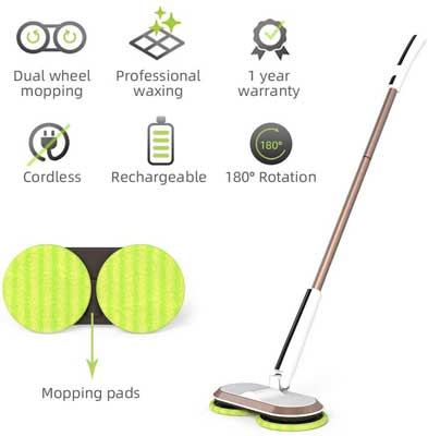 #10. GOBOT Cordless Scrubber Powerful Electric Mop Cleaner