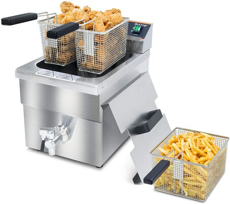 1. Duxtop 208 – 240V 3000W Professional Induction Stainless Steel Electric Deep Fryer for Home