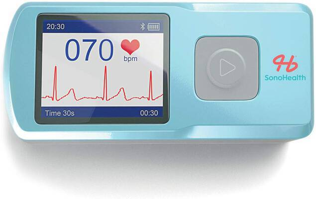 #4. SonoHealth Portable Wireless Handheld Home ECG Cardio Machine EKG Heart Rate Monitor