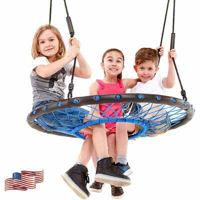 3. Smartsome Outdoor & Indoor Patented Soft Handles 40'' Tire Swing Easy Assembly Tree Swing