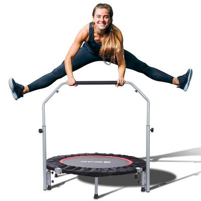 """#5. BCAN 40"""" Foldable Fitness Rebounder Mini Trampoline Max Load 330lbs with Adjustable Handle"""