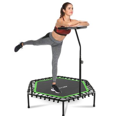 """#4. ANCHEER 50"""" Cardio Mini Trampoline Rebounder for Adults Fitness with Adjustable Handle Bar"""