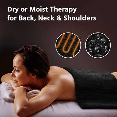 #8. GENIANI Premium XL Fast Neck Shoulder Pain Relief Electric Heating Pad for Moist Therapy (Black)