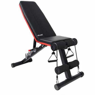 7. ATIVAFIT Multi-Purpose Foldable Flat Adjustable Weight Full Body Workout Bench for Home Gym