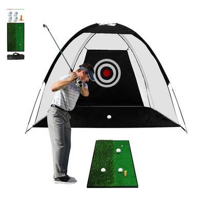 #2. ibigbean Golf Hitting Net Set
