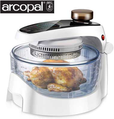 #1. SANHOYA 17L Oilless Cooker with Spray Function Stainless Steel Touchscreen Air Fryer