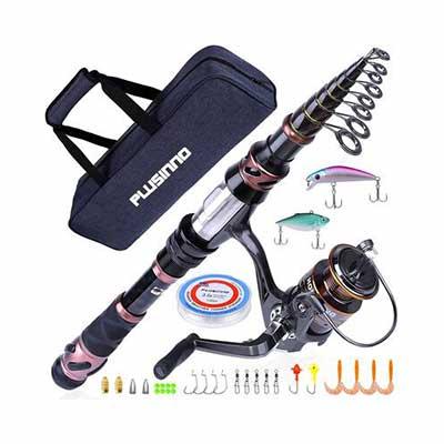 5. PLUSINNO Fishing Rod & Reel Combos