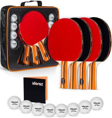 #8. Idoraz Ping Pong Paddles and Balls