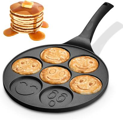 #4. KUTIME Pancake Pan with Seven Flapjack Faces
