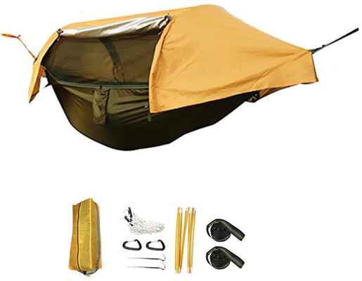 2. BriSunshine Camping Hammock with a Mosquito Net