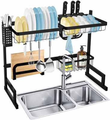 #7. SOLEDI Anti-Rust Sturdy & Durable Easy to Assemble Dish Rack Stainless Steel