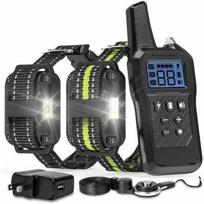 4. FunniPets 2600 Ft. Range Waterproof Shock Collar Dog Shock Collar w/Four Training Modes