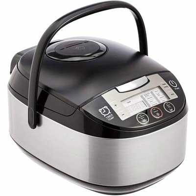 9. AmazonBasics Multi-Functional Pressure Cooker - 5.5-Cup, Black