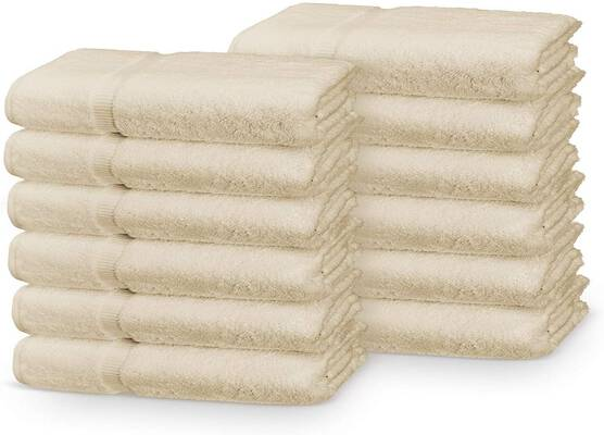 #6. Soulmate 100% Cotton 600 GSM 12 Pack Washcloths