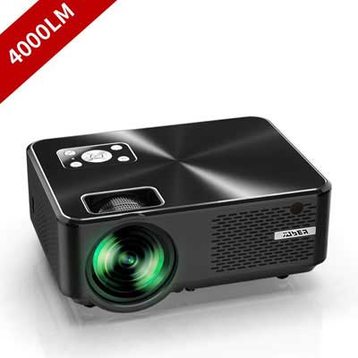 #7. YABER 4000 Lumen Full HD 1080P 200 Inches Display Portable Projector