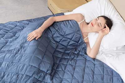#2. NIGHTLY GOOD DREAM 60 x 80 inch 15 lbs. Weighted Blanket for Kids or Adult