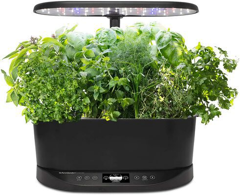 1. AeroGarden Black In-Home Garden No soil Herb Garden Basic Bounty Indoor Hydroponic Light
