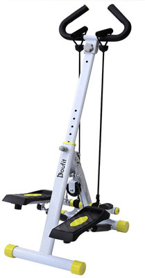 #2. Doufit ST-01 Folding Exercise Machine with Handlebar, Resistance Bands & Digital Monitor