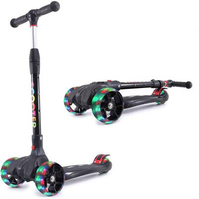 #7. Eatao Kick Scooter for Kids with LED Flashing Wheels